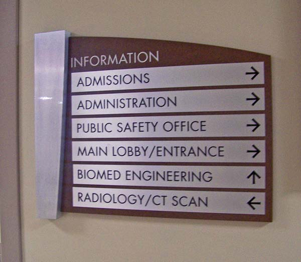 Indoor directional signage for commercial