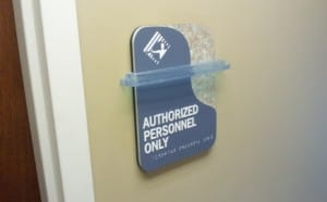 An ADA compliant sign