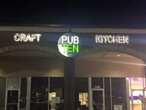 Pub Ten sign